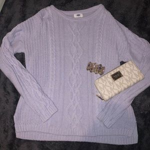 EUC Old Navy periwinkle cable knit sweater XL